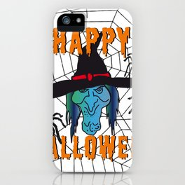 Witch Happy Halloween white iPhone Case