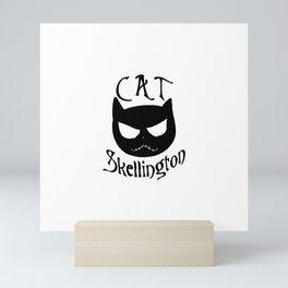 Cat Skellington Mini Art Print