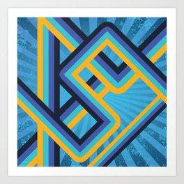 Geometric abstract lines Art Print