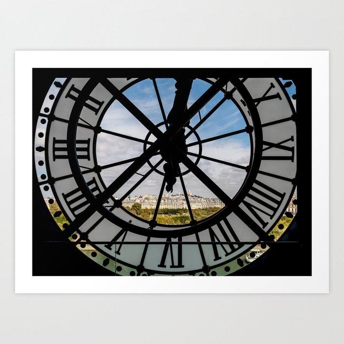 Giant glass clock at the Musée d'Orsay - Paris Kunstdrucke