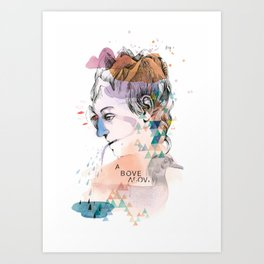 Mountain Head Art Print