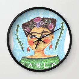 Fierce Frida Wall Clock