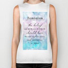 Feminism Definition - Feminist Art Equal Rights Biker Tank