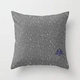Trail Status / Stone Grey Throw Pillow