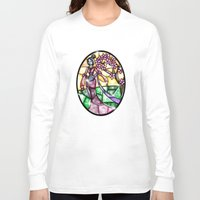 mulan Long Sleeve T-shirts featuring Stained Glass Mulan by Callie Clara