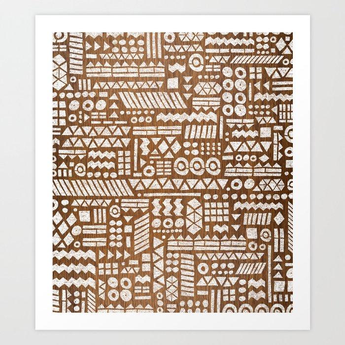 Northwoods Pattern Art Print By Nelsonicboom Society6