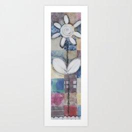 Patchwork Flower Art Print