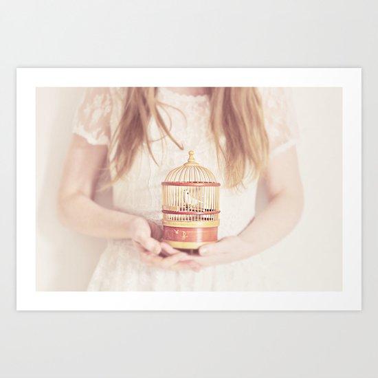 sweet nightingale Art Print
