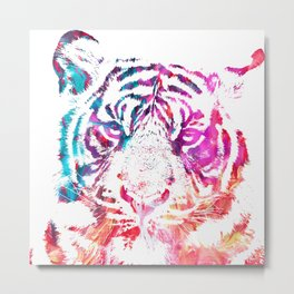 Painted Tiger Metal Print