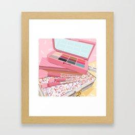 Ice Cream Makeup Flatlay Framed Art Print