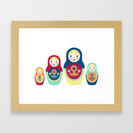 Matryoshka Dolls Framed Art Print