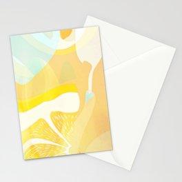 Lemon Meringue Melted Ice Cream  Stationery Cards