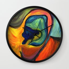 Colorful Hearing Wall Clock