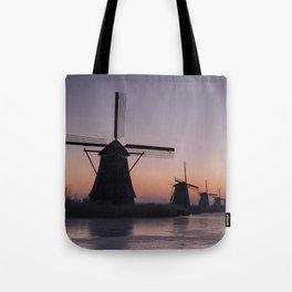 Windmills at Sunrise III Tote Bag