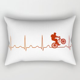 Mountainbike HeartbeatMountainbike Heartbeat Rectangular Pillow