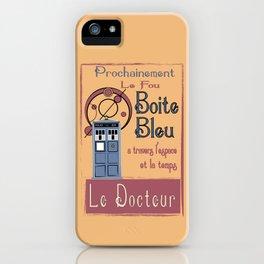 Boite Blue iPhone Case