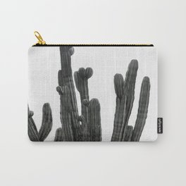 Black and White Cactus Carry-All Pouch