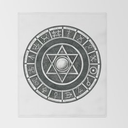 Alchemist's Seal Throw Blanket