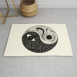Yin & Yang - [collaborative art with Magdalla del Fresto] Rug