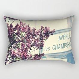 Avenue des Champs Elyse Rectangular Pillow