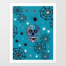 Creepy Crawling Spiders Art Print