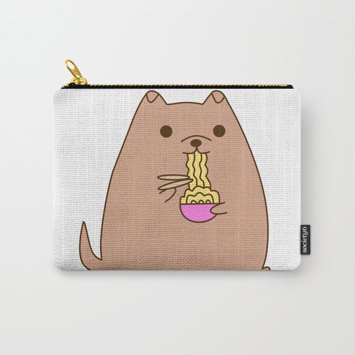 Pupsheen Eating Ramen Carry-All Pouch