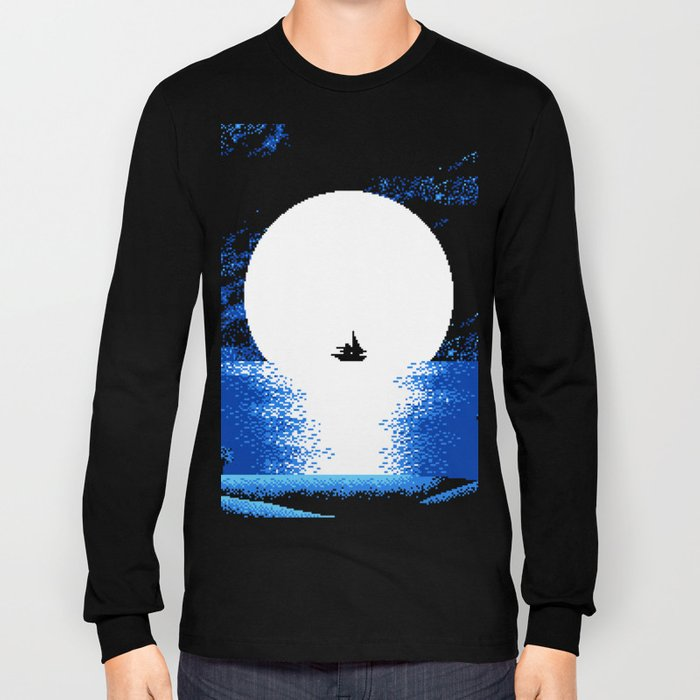 Gazing  the  Moon  at  the  Celestial  Seashore Long Sleeve T-shirt