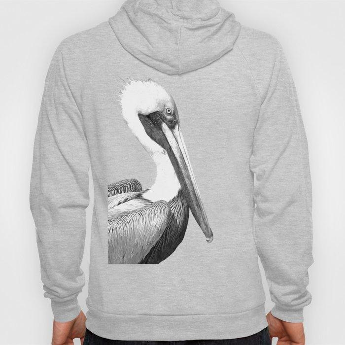 Black and White Pelican Hoody