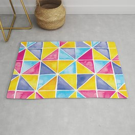 Triangle Tiles | Bright Mix Rug