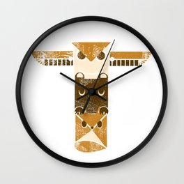 S'mores Totem Wall Clock