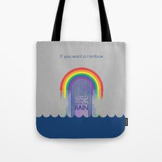 Rainbow Needs Rain Tote Bag