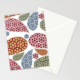 Paisley Snowflake Pattern Stationery Cards