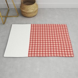 Diamond square Dipdye pattern - red Rug