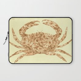 Sepia Floral Crab  Laptop Sleeve