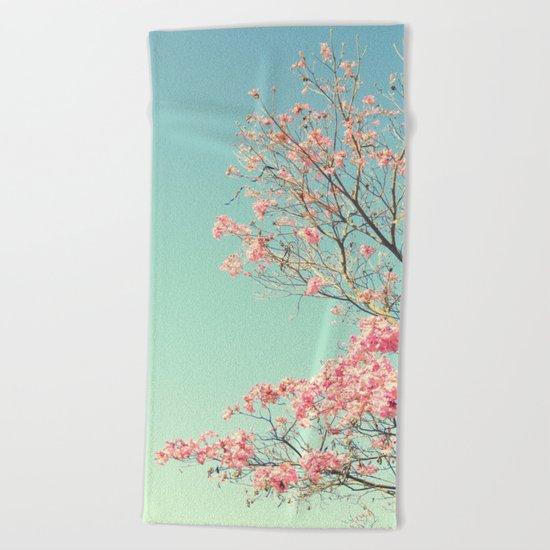 Spring Kissing the Sky Beach Towel