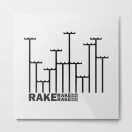 Rake Metal Print