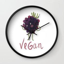 Vegan Blackberry Wall Clock