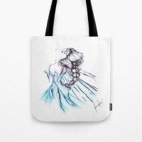 frozen elsa Tote Bags featuring Frozen Elsa by Jeanette Perlie
