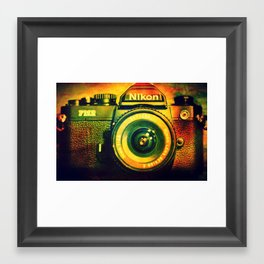 Vintage camera Framed Art Print