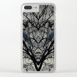 Mirrored Trees 3 Clear iPhone Case