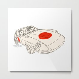 Crazy Car Art 0160 Metal Print