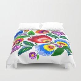 colorful folk flowers Duvet Cover