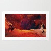 skyfall Art Prints featuring SkyFAll by Høssam Møustafa