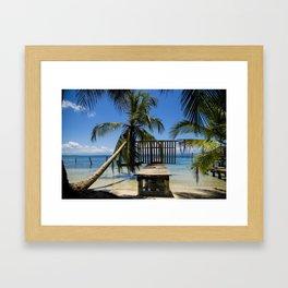 Relax on de beach photography Framed Art Print
