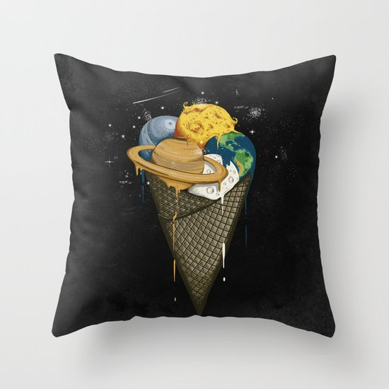 Galactic Ice Cream Throw Pillow