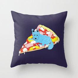 Pizza Dog Throw Pillow