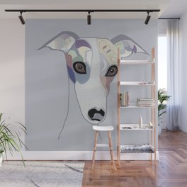Whippet in Denim Colors Wall Mural