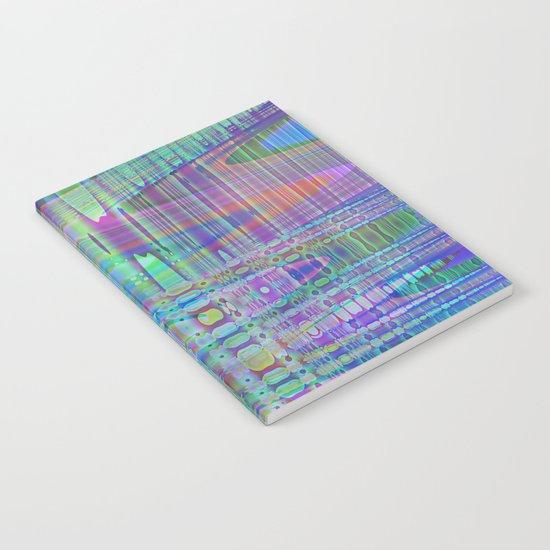 random blue abstract Notebook
