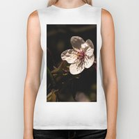 cherry blossom Biker Tanks featuring cherry blossom by Eduard Leasa Photography