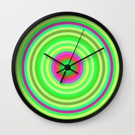 Retro Radial Wall Clock